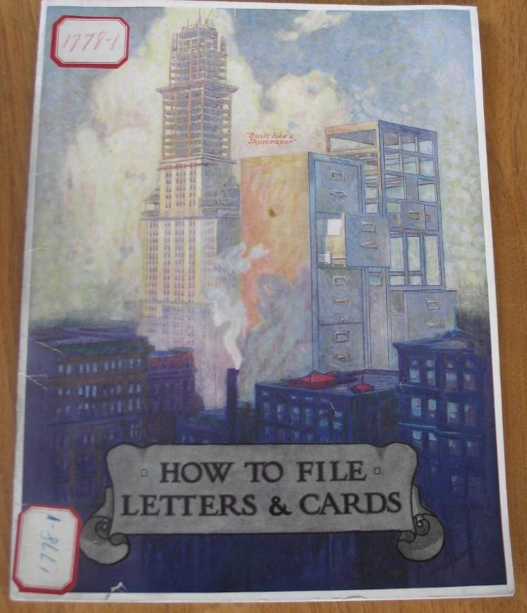 Shaw Walker How to File Letters and Cards (c.1920)